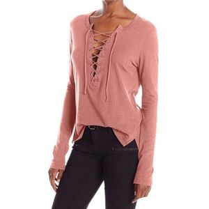 Pam & Gela Lace Up Top